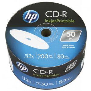 Диск CD HP CD-R 700MB 52X IJ PRINT 50шт Оперативная полиграфия в Киеве. Печать на бумаге, Дисках, визитках - Dam.net.ua