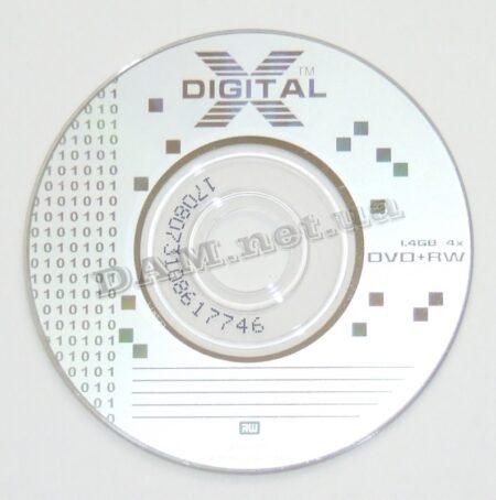 Диск DVD+RW mini XDIGITAL 80mm 1.4GB 30min bulk 100 Оперативная полиграфия в Киеве. Печать на бумаге, Дисках, визитках - Dam.net.ua