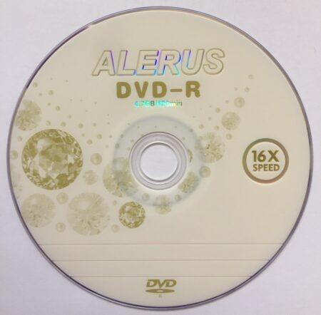 Диск DVD-R ALERUS 4.7GB 120min 16x bulk 50 Оперативная полиграфия в Киеве. Печать на бумаге, Дисках, визитках - Dam.net.ua
