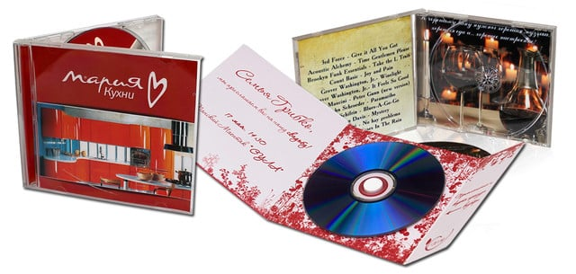 Разновидности конвертов для CD и DVD дисков