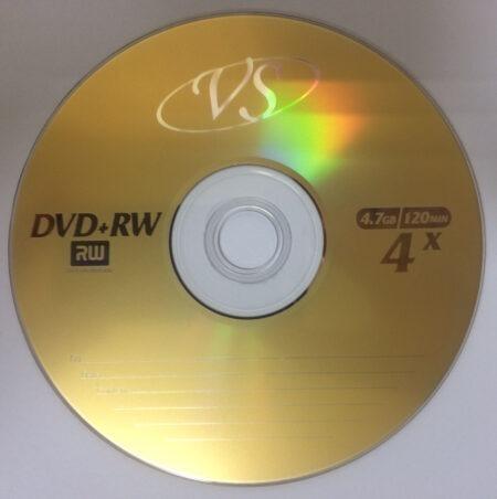 Диск DVD+RW VS 4.7GB 120MIN 4x bulk 25 Оперативная полиграфия в Киеве. Печать на бумаге, Дисках, визитках - Dam.net.ua