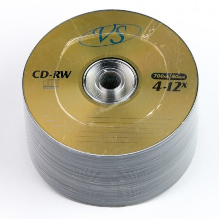 Диск CD-RW VS 700MB 80min 4-12x bulk 50 Оперативная полиграфия в Киеве. Печать на бумаге, Дисках, визитках - Dam.net.ua